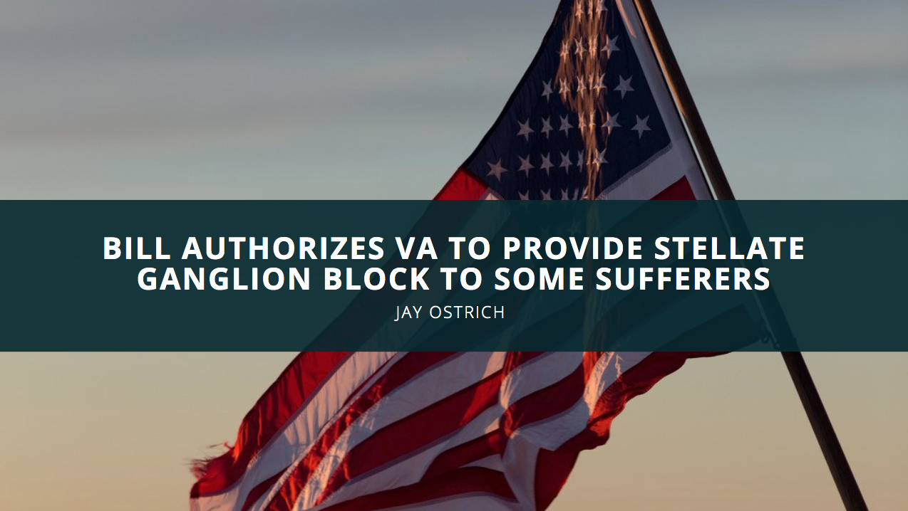 Bill Authorizes VA to Provide Stellate Ganglion Block to Some Sufferers, Jay Ostrich Says
